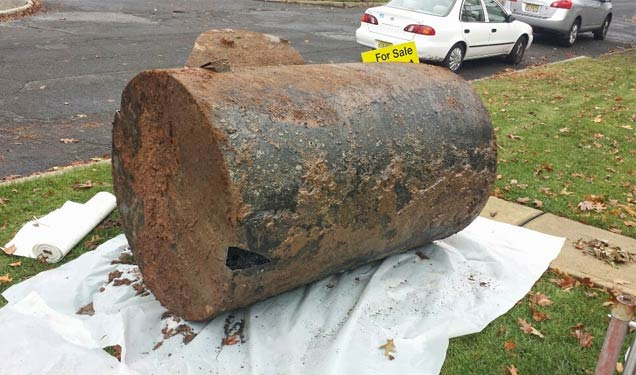 500 gallon heating oil tank removed in Union County, NJ