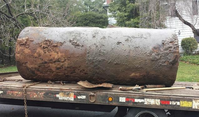 1,000 gallon heating oil tank removed OilTankAssurance.com